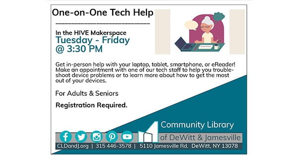 one on one tech help available, call for details