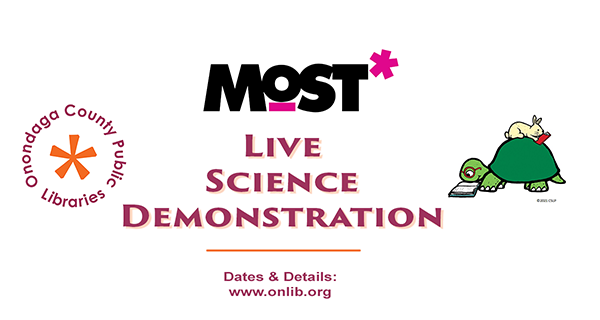 Live science demonstrations by The Most at OCPL locations this summer