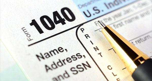 Photo of tax forms