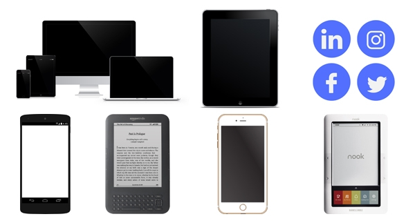 photo of various types of computers and other technology