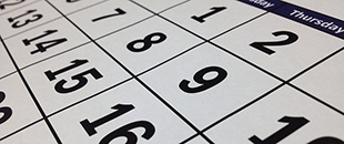 a calendar on a shaded background
