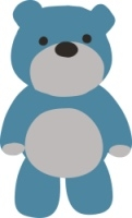 a blue gray teddy bear graphic from ECA - Early Childhood Association