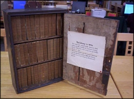 1830 library bookcase