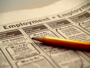 photo of employment section of newspaper
