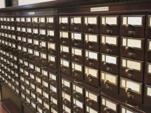 photo of card catalog