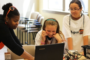 teens using a computer