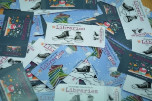 Photo of OCPL library cards